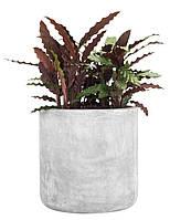 Напольный садовый горшок вазон диаметр 41 см серый
