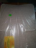 Набор ковриков в ванную и туалет с вырезом  Комфорт 60×80см, 50см×60см, песочный  мелкий ворс