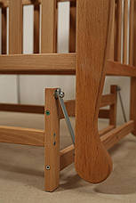 Кровать «NATALI» на подшипниках с откидной боковиной (600 * 1200) (Бук), фото 3