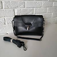 """Женская кожаная сумка, 2 ручки в комплекте  """"Мелитта 2 Black"""", фото 1"""