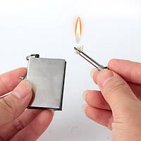 Огниво вечная спичка зажигалка бензиновая брелок