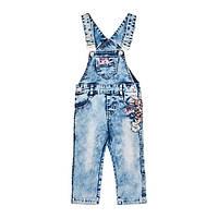 Полукомбинезон джинсовый Yuke F1464 цвет : голубой; размер : 104