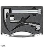 Ларингоскопический набор стандарт Миллер C, неонаталогия, 1 рукоятка + 3 клинка