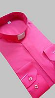 Рубашка для священников  малинового цвета с длинным рукавом, фото 1