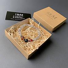 Браслет жіночий I&M Craft з каменю котяче око (141066)