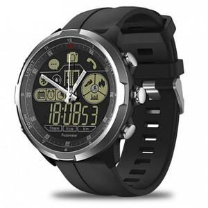 Умные часы Smart Watch Zeblaze VIBE 4 HYBRID Черные с серебристой окантовкой