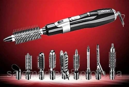 Воздушный стайлер для укладки волос Gemei GM-4833 с насадками 10 в 1