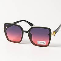 Женские солнцезащитные квадратные очки (арт. 33708/1) фиолетово-розовые, фото 1
