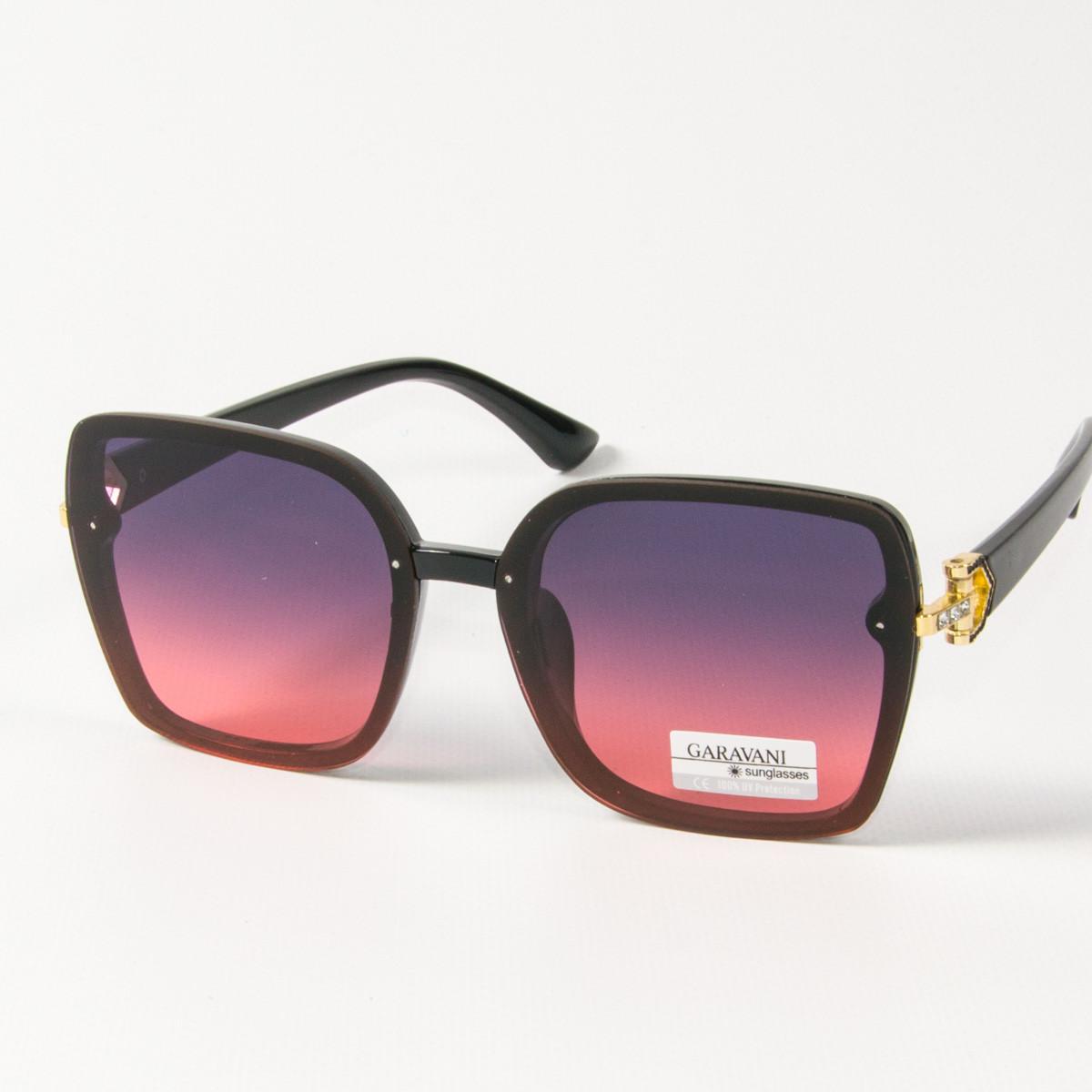 Женские солнцезащитные квадратные очки (арт. 33708/1) фиолетово-розовые
