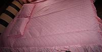 Покрывало +2 подушки розовое, фото 1