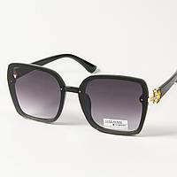 Женские солнцезащитные квадратные очки (арт. 33708/2) черные, фото 1