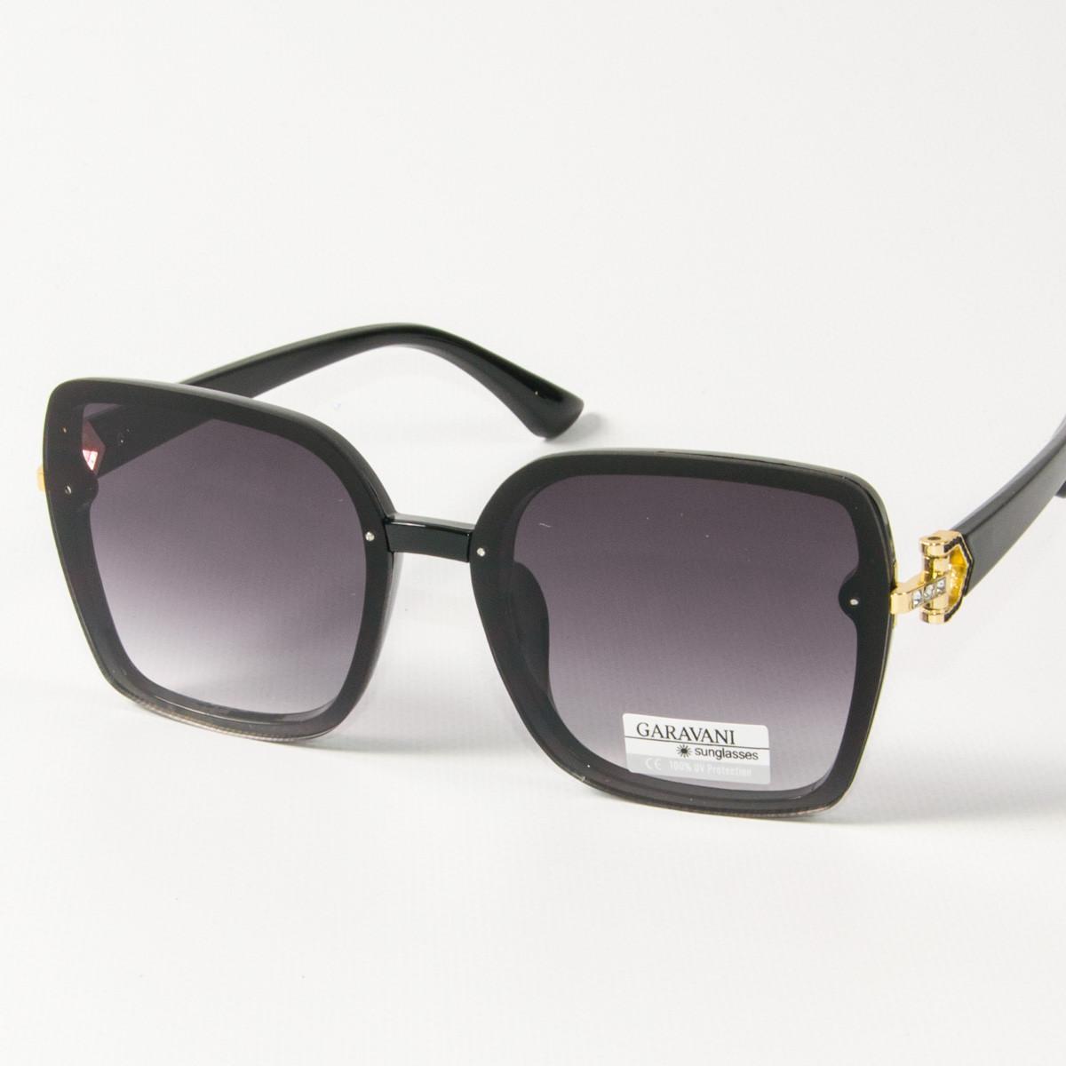 Оптом женские солнцезащитные квадратные очки (арт. 33708/2) черные
