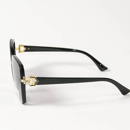 Оптом женские солнцезащитные квадратные очки (арт. 33708/2) черные, фото 2