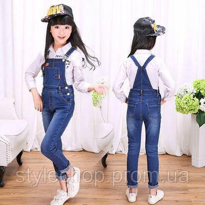 Комбінезон джинсовий для дівчаток підлітків