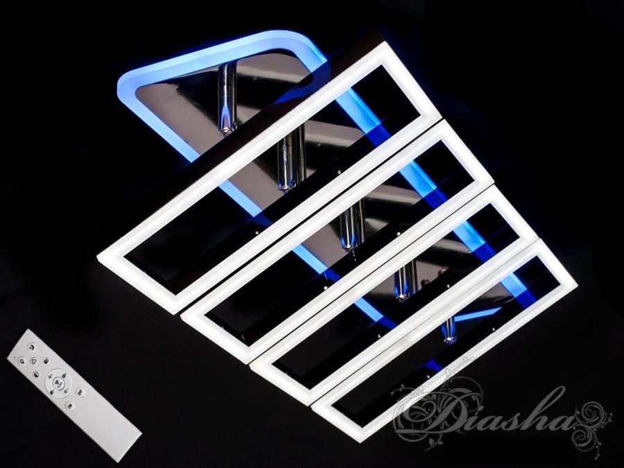 Потолочная люстра с диммером и LED подсветкой, цвет чёрный хром 11019/4BHR LED dimmer