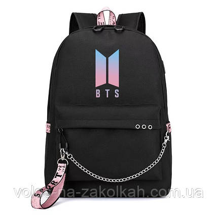 Рюкзак портфель  подростковый BTS K-Pop Корея, фото 2