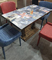 Стол Париж 120х70 см прямоугольный на металлической опоре, для бара, кафе, ресторана