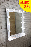 Зеркало с подсветкой и полкой Мики 60х80