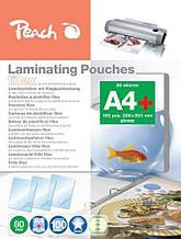 Пленка ФАЙЛ для ламинирования Peach A4 (216x303 мм) - 80 мкм (50/30) глянец 100шт