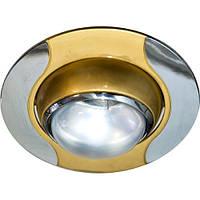 Встраиваемый точечный светильник Feron 020 R-50 золото\хром
