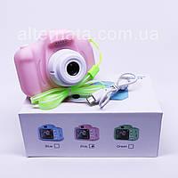 Детский фотоаппарат XoKo KVR-001 цифровой фотоаппарат розовый+карта памяти (подарок)