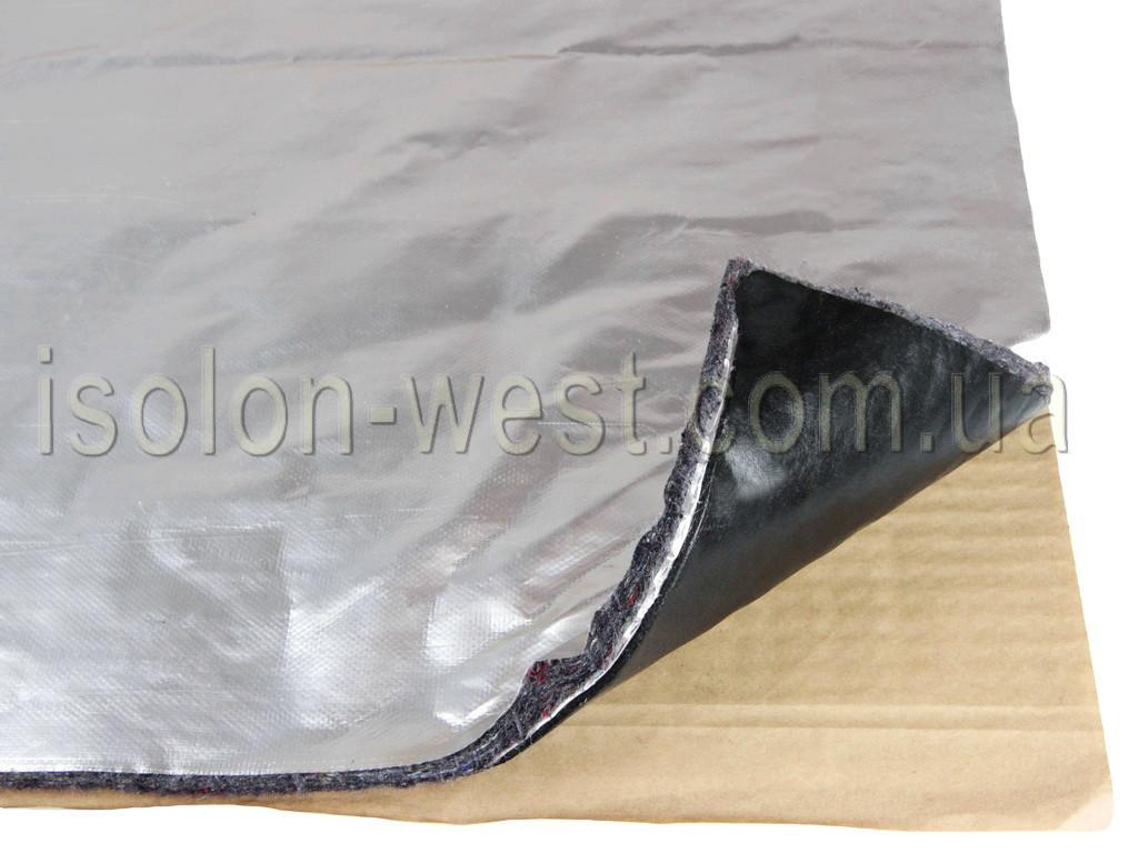 Виброшумка повстяна фольгована 3в1 10ФСВВ/4.0 (50х70)см, товщина 14мм, вологостійка, багатошарова