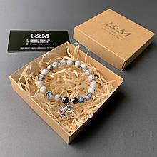 Браслет жіночий I&M Craft з каменю кахолонг (141072)
