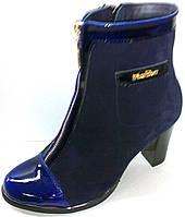 Ботинки на каблуке с декором - кармашек, фото 1