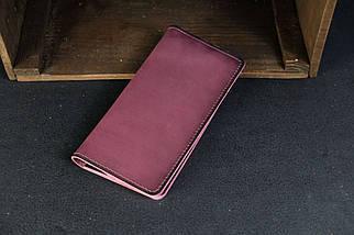 Кошелек клатч Лонг на 8 карт Кожа Итальянский краст цвет Бордо, фото 2