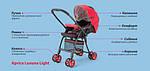 Коляска Aprica Luxuna Light CTS Cheerful Red красная прогулочная, фото 2