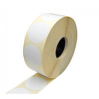 Термоэтикетка самоклеящаяся круглая 20 мм диаметр (2000 шт)
