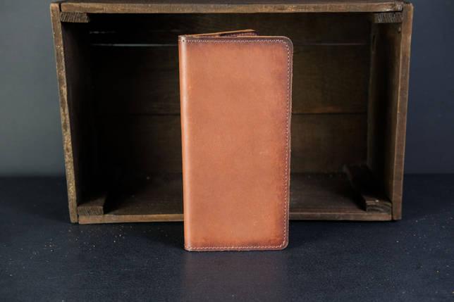 Кошелек клатч Лонг на 8 карт Кожа Итальянский краст цвет Коричневый, фото 2