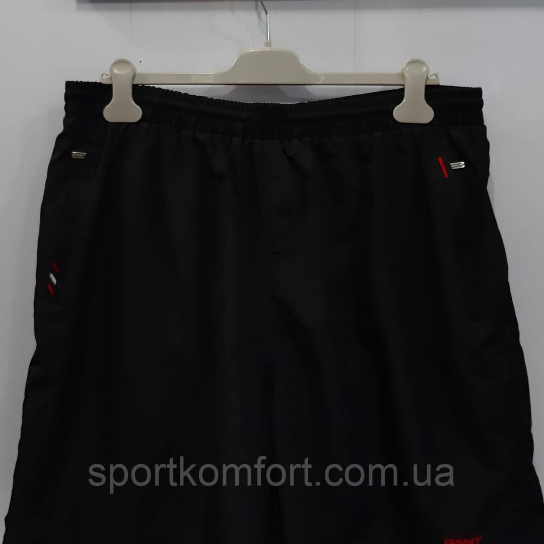 Прогулянкові шорти великого розміру з м'якої плащової тканини Туреччина, чорні, три кишені на блискавці.