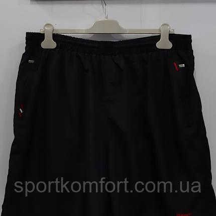 Прогулянкові шорти великого розміру з м'якої плащової тканини Туреччина, чорні, три кишені на блискавці., фото 2