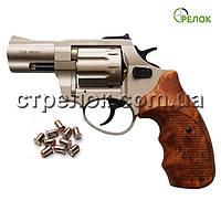 """Револьвер под патрон Флобера Stalker 2.5""""satin коричневая рукоять"""