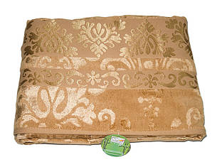 Велюровая махровая простынь Cestepe Bamboo Gold 200х220, фото 2