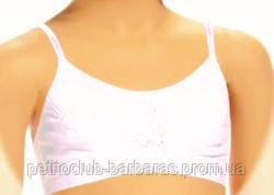 Дитячий регульований топ для дівчинки білий (Sevim, Туреччина)