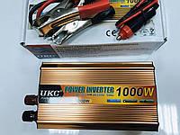 Качественный Инвертор UKC, чистая синусоида,  Преобразователь постоянного тока 1000W, 12V-220V