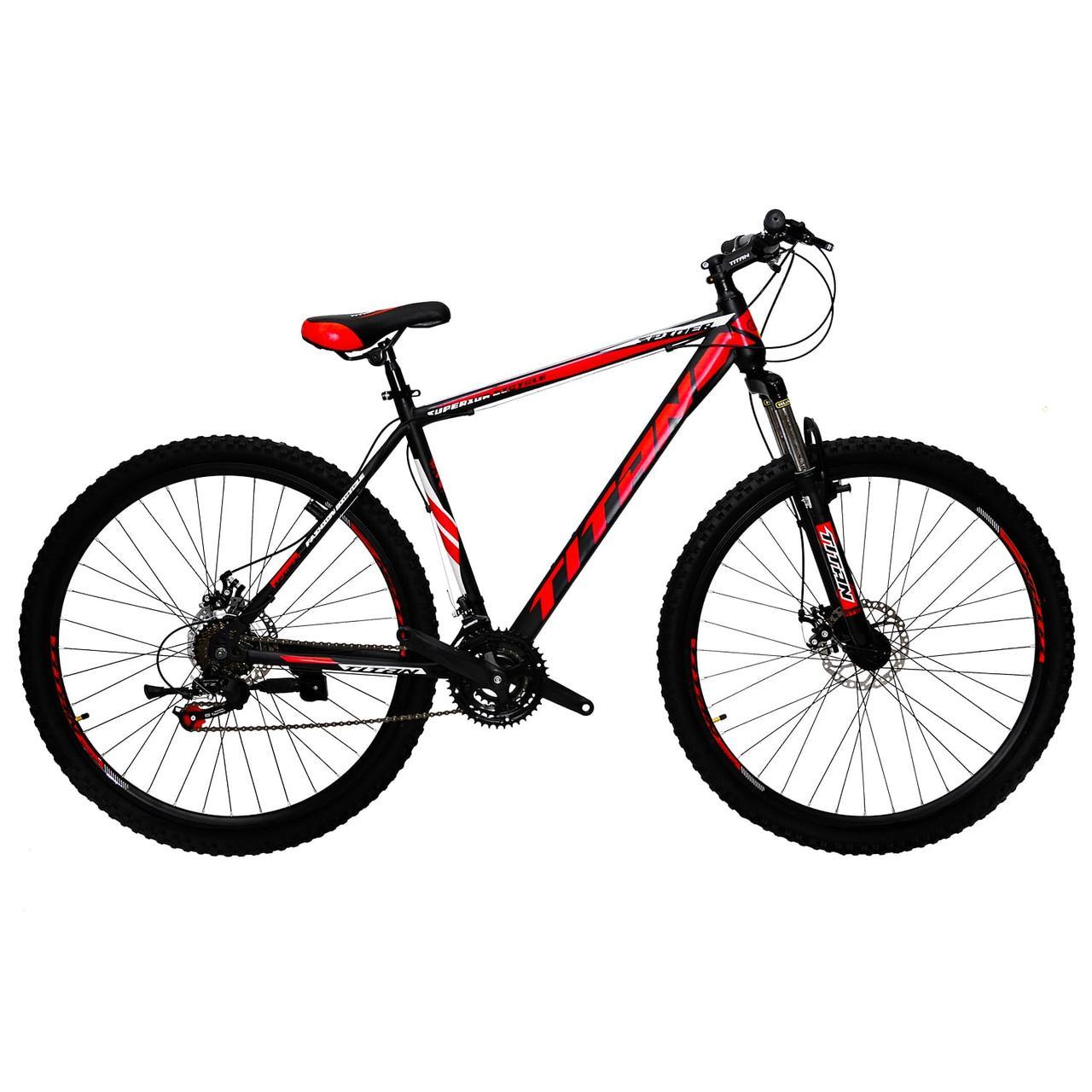 """Горный дисковый велосипед 29"""" TITAN SPIDER DD (Shimano, моноблок)"""