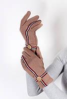 Перчатки  Женские перчатки трикотажныесенсорные Лукия бежевые One size (PER1803)