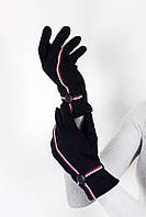 Перчатки  Женские перчатки трикотажные сенсорные Лукия индиго One size (PER1803)