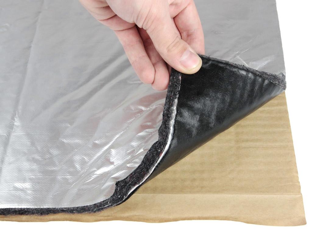 Виброшумка повстяна фольгована 3в1 12ФСВВ/3.0 (50х70)см, товщина 15мм, вологостійка, багатошарова