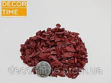Декоративний кольоровий щебінь (крихта, гравій) , червоний (58501)