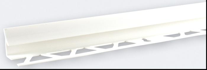 Угол внутренний под плитку (9-10 мм) белый LRB01