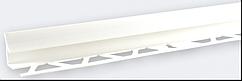 Кут внутрішній під плитку (9-10 мм) білий LRB01