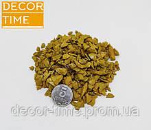 Декоративний кольоровий щебінь (крихта, гравій) , жовтий (86303)