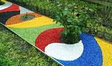Декоративный цветной щебень (крошка, гравий) , зеленый (83404), фото 5