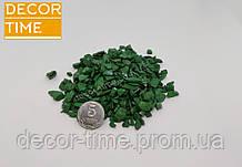 Декоративний кольоровий щебінь (крихта, гравій) , зелений (83404)