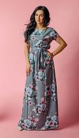 Летнее легкое длинное платье размеры 44-46, 48-50, 52-54