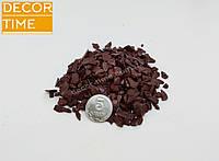 Декоративный цветной щебень (крошка, гравий) , коричневый (10211)